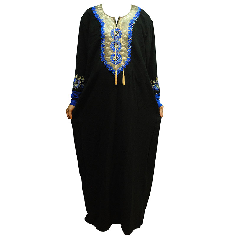 Muslim Women Burka Abaya Dress Embroidery Indian Maxi Robe Kimono Vestidos Kaftan Instant Hijab Arab Ic Prayer Clothing In Dresses From S