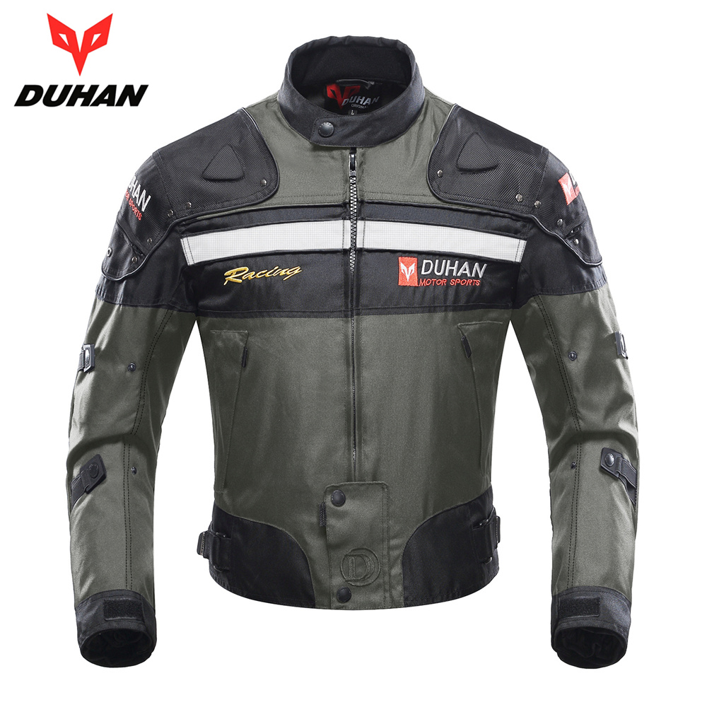 DUHAN Motorcycle Jacket Riding Armor Motocross Off-road Jacket Moto Men Windproof Clothing Motorbike Protector for Winter Autumn 2015 new duhan dk 018 moto pants motorcycle jeans off road motorcycle riding pant drop resistance external protective gear