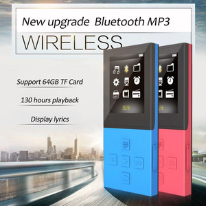 Wireless Bluetooth HIFI Lossless MP3 Player 8GB Recorder FM Video E-book Function 1.8inch TFT Sport Car Stereo Music Player