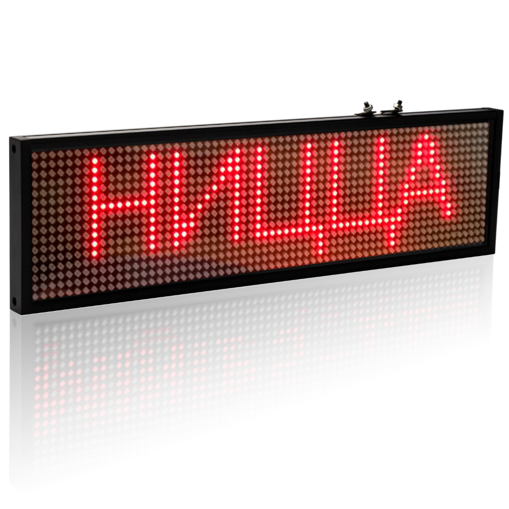 34cm P5 Smd Red WiFi LED sign indoor Storefront Open Sign Programmable Scrolling Display Board- Industrial Grade Business Tools