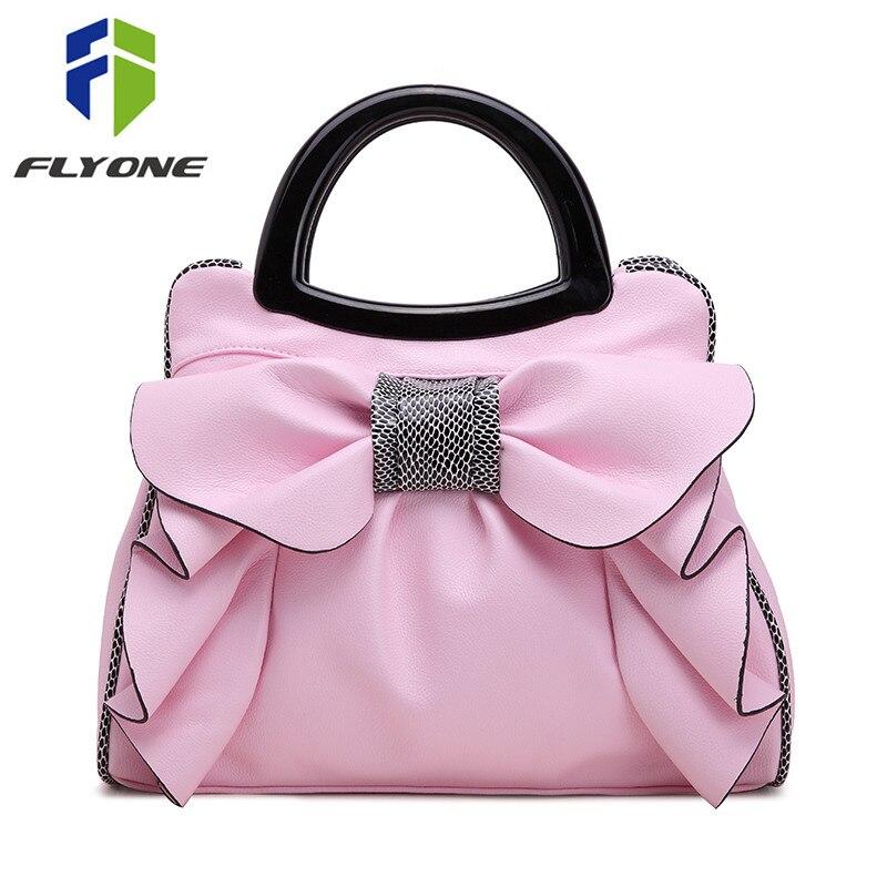 Flyone New Bow Fashion Handbags Sweet Lady Bag Ladies bag Woman Bag Lady s Best Gift