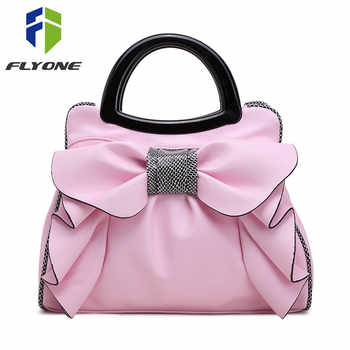 Flyone New Bow Fashion Handbags Sweet Lady Bag Ladies bag Woman Bag Lady's Best Gift Beautiful Bow For Beautiful Her FY0146 - DISCOUNT ITEM  45% OFF All Category