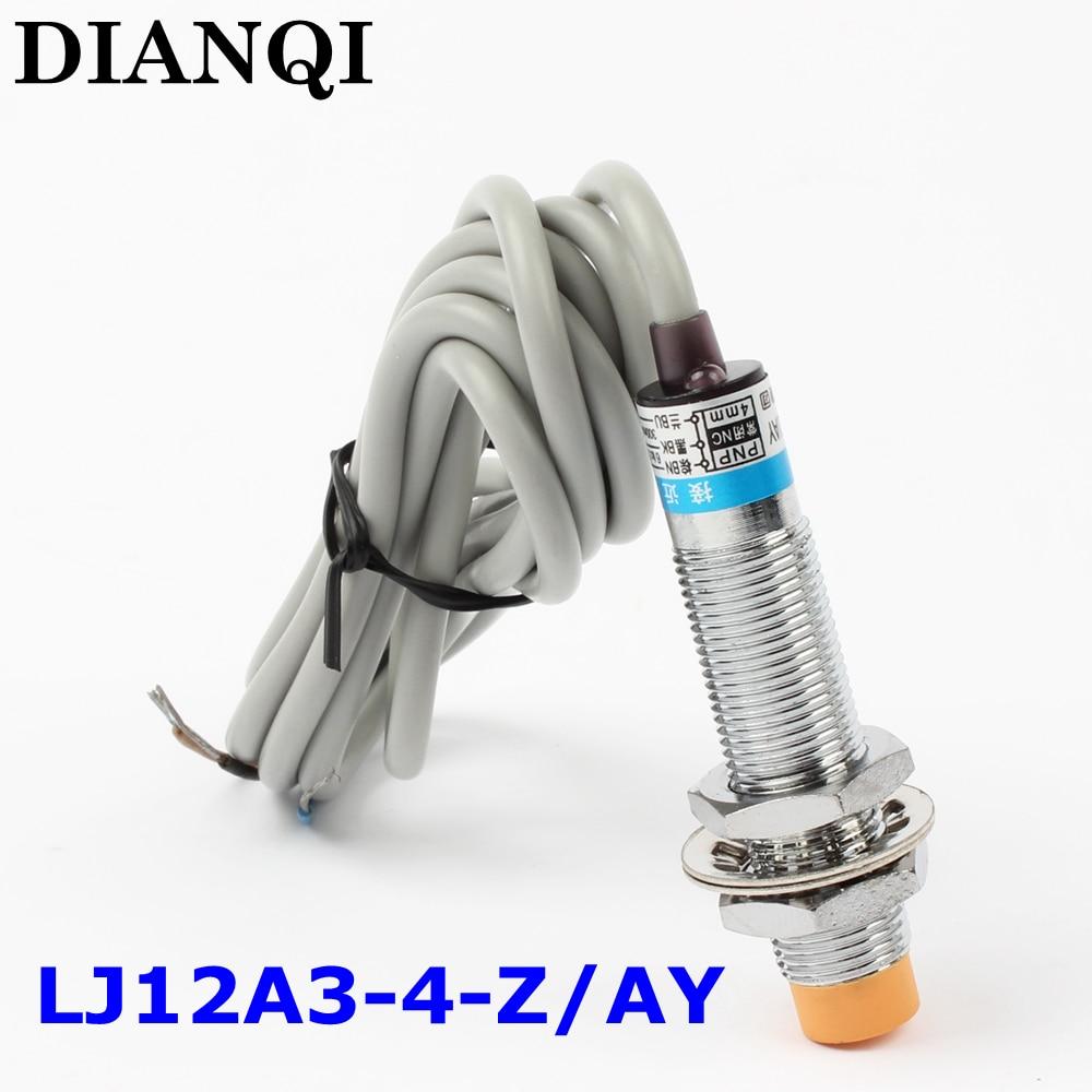 Inductive Proximity Sensor,LJ12A3 4 Z/AY,PNP,3 wire NC,diameter 12mm ...