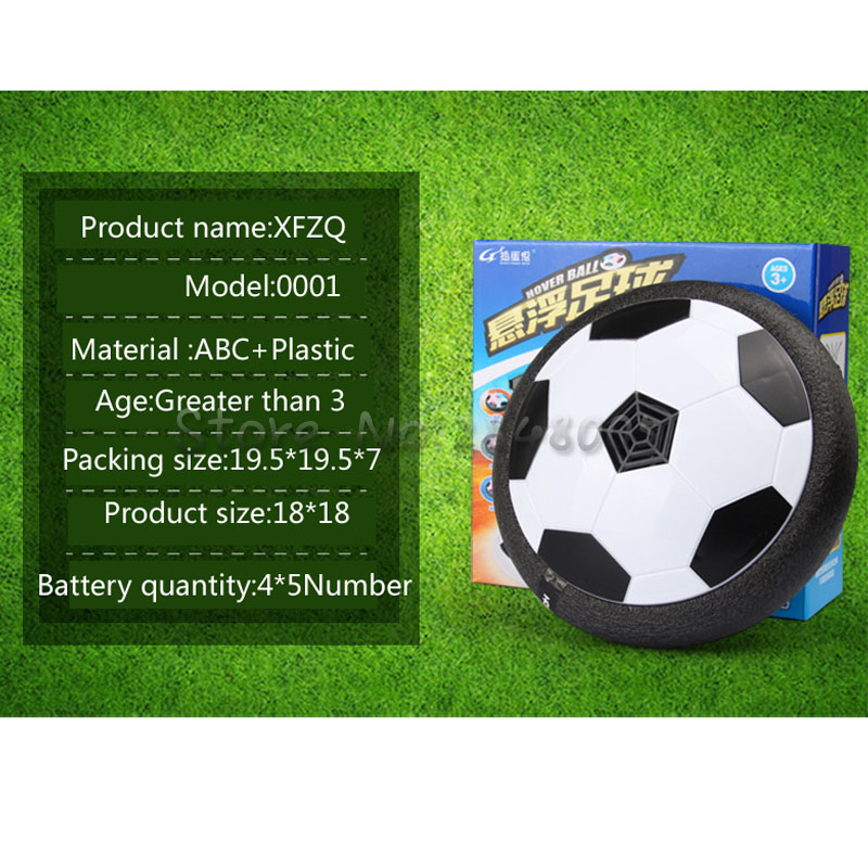 Hover Ball Air Power Soccer Ball Colorful Disc Indoor Football Toy Multi-surface Hovering and Gliding Outdoor Toy  soccer fans football colorful hair coser wig wild curl up tuba ball blast head clown hilarit party headwearing