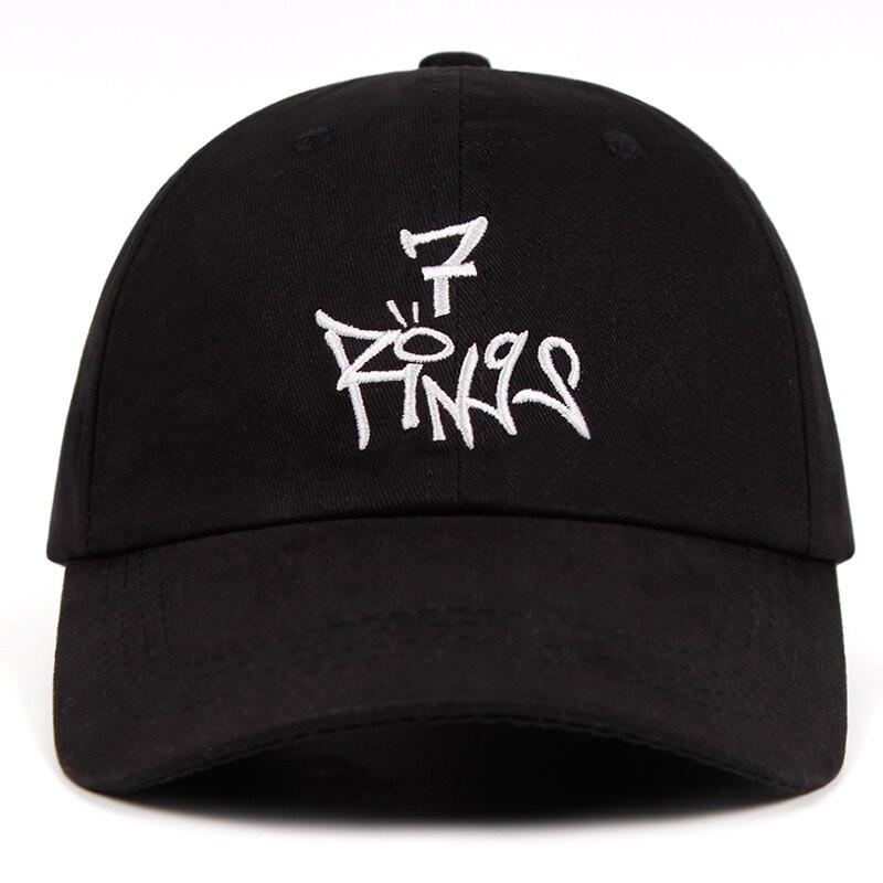 Ariana Grande 7 rings   Baseball     Cap   100% Cotton Dad Hat Thank U,Next Album Snapback Hats Embroidery Men Women bone