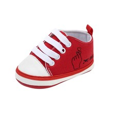 19 New Pattern Letter Printed Canvas Shoes Baby Lace-up Toddler Girl  Boy