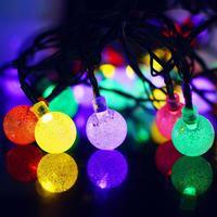 2 stücke 4,5 Mt 30 LED Solarbetriebene Bubble Ball Lichterketten für DIY Schlafzimmer Terrasse Party Weihnachten urlaub Hof Decor