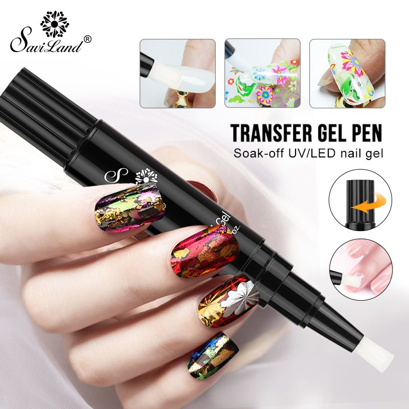 Saviland Transparent Nail Foil Gel Glue Starry Sky Transfer Paper Clear Gel Need To Use With Foil Professional Nail Art