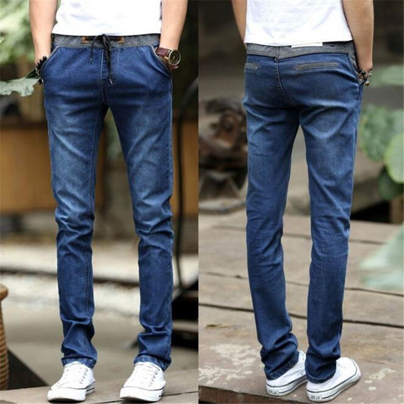 Design Biker Pants Fit Cheap Regular Blue   Jeans  , Tether Casual Slim pants men Trousers Crotch Pant Men Joggers Feet pants