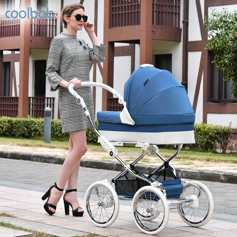 European Royal Trolley High Landscape Two-way Luxury Baby Stroller Hot Mom Stroller Travel Pram Cochesitos De Bebe
