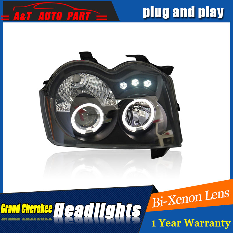 car Styling LED Head Lamp for Grand Cherokee headlights for Grand Cherokee light angle eyes drl H7 hid Bi-Xenon Lens low beam auto lighting style led head lamp for porsche cayenne headlights for cayenne led angle eyes drl h7 hid bi xenon lens low beam