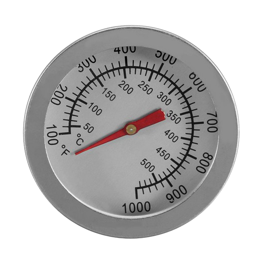 Stainless Steel BBQ Barbecue Smoker Grill <font><b>Thermometer</b></font> Temperature Gauge (100 to <font><b>1000</b></font> <font><b>degrees</b></font> Fahrenheit) BBQ Accessories image