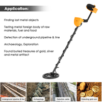 KKmoon Metal Detector Underground Professional LCD Gold Detector Treasure Hunter Adjustable Sensitivity Waterproof Search Coil