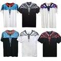 Marcelo Burlon T Shirt Das Mulheres Dos Homens uomo 1:1 Concelho De Milão Marcelo Burlon asas de penas T-shirt RODEIO REVISTA Yeezy Tee Camisetas