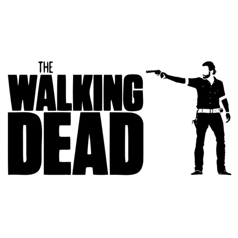 15.5cm*7.9cm Funny WALKING DEAD Rick Vinyl Decals Car-styling Car Sticker Black/Silver S8-1103