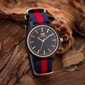 Nueva Kenon Relojes de Primeras Marcas de Lujo Para Hombre de Nylon Correa de Madera De Madera Populares de Pulsera de Cuarzo de Los Hombres Relojes relogio masculino