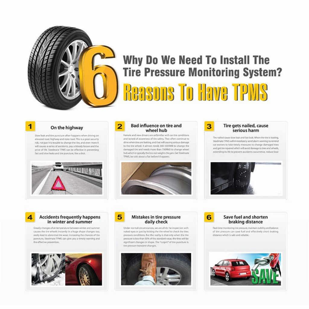 Carprie tpms máquina 2019 nova venda quente solar sem fio tpms sistema de monitoramento pressão dos pneus do carro/4 sensor interno 9710