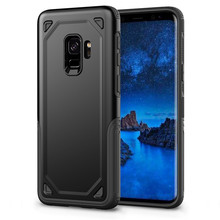 Luxury Tough Shockproof Armor Phone Case For Samsung S9 S8 S10 Plus S10e Hybrid Hard PC+TPU Anti-knock Protective Cover