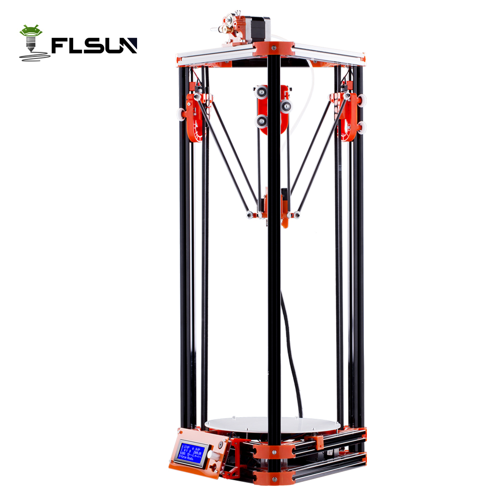 Large Printing Size Delta 3D Printer Auto Leveling 3D-Printer Pulley Version Linear Guide 3D Printer Printing Size 240*240*285 free dhl shipping 3d printer linear guide diy kit large printing speed 20 180mm s 3d metal printer support auto leveling
