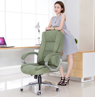 Flannelette computer chair comfortable boss chair fashion leisure home office chair ergonomic chair swivel chair cloth art boss chair real leather computer chair home massage can lie in the leather chair solid wood armrest office chair 26