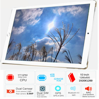 Free Shipping 2019 Original 10.1' 3G/4G Phone WIFI tablet PC 8 Octa Core RAM 4GB ROM 32GB MT6753 1920*1200 IPS metal tablets pcs
