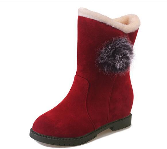 2018 осенние и зимние новые модные повседневные увеличение в квартире с сладкий большой детей туфли из хлопка женские