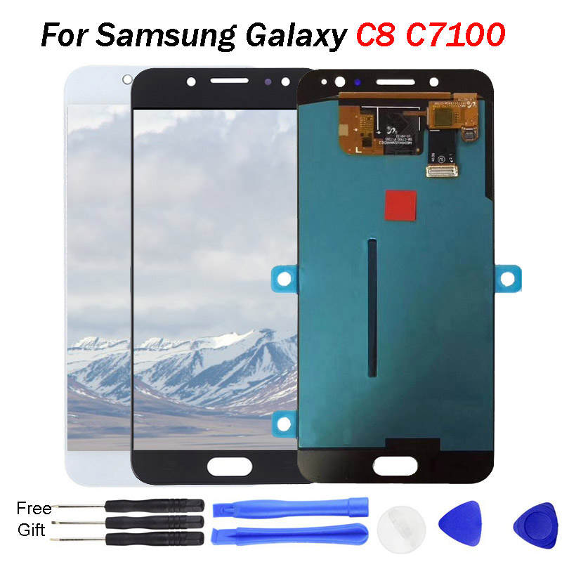 C8 Amoled lcd For SAMSUNG GALAXY C8 LCD C7100 Display Touch Screen Digitizer Assembly C710F Replacement For 5.5 SAMSUNG C8 LCDC8 Amoled lcd For SAMSUNG GALAXY C8 LCD C7100 Display Touch Screen Digitizer Assembly C710F Replacement For 5.5 SAMSUNG C8 LCD