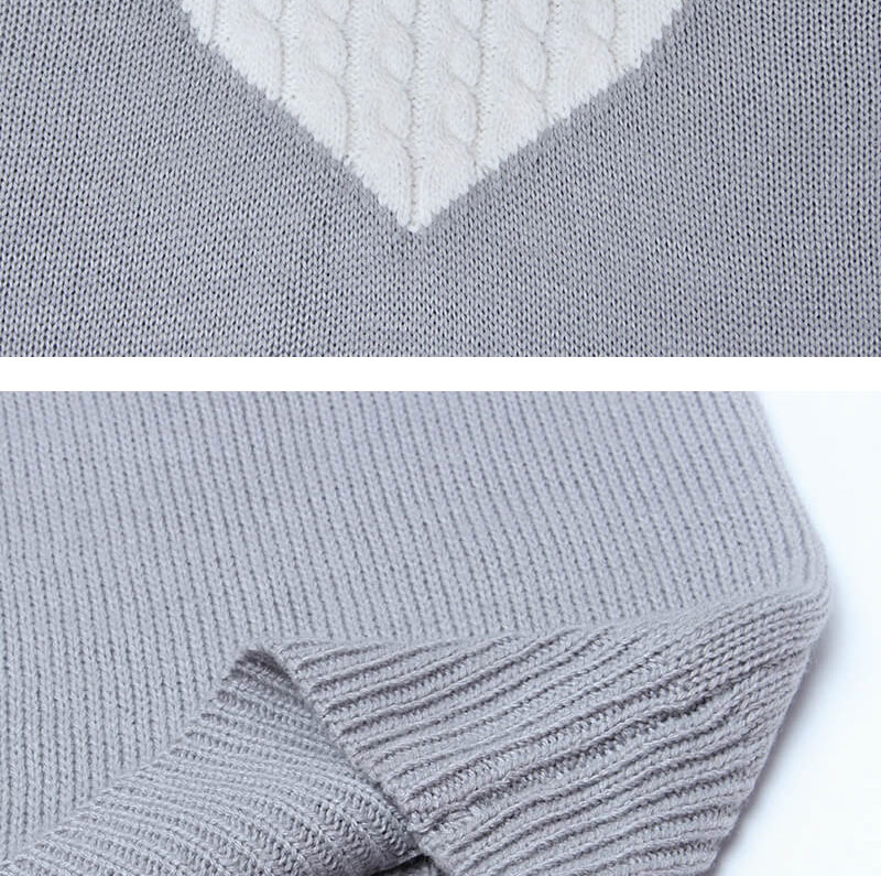 18 new winter white knitted sweater Women lantern sleeve loose gray pullover female Soft warm autumn casual love heart jumper 14