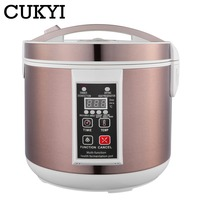 CUKYI 5L / 6L Automatic Black garlic fermenter household DIY zymolysis pot maker 110V 220V black garlic fermenting machine EU
