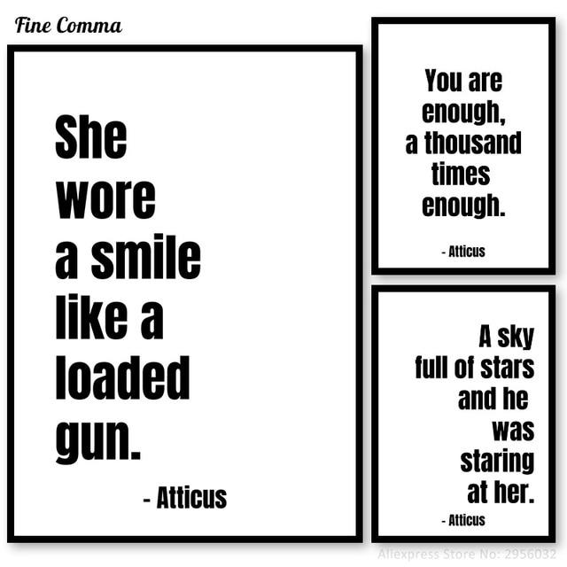 Atticus Poetry Quotes Pictures Decorative Posters And Prints Nordic Fascinating Atticus Quotes