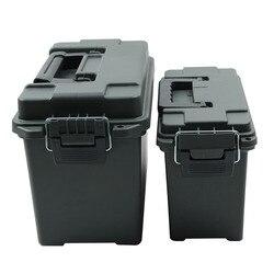 Пластиковая коробка для хранения патронов в Военном Стиле жестянка с боеприпасов пасами легкая высокопрочная коробка для хранения патроно...