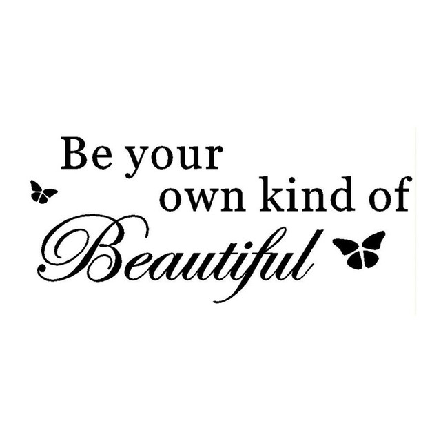 Be Your Own Kind Of Beautiful Vinyl Wall Sticker Quotes Lettering