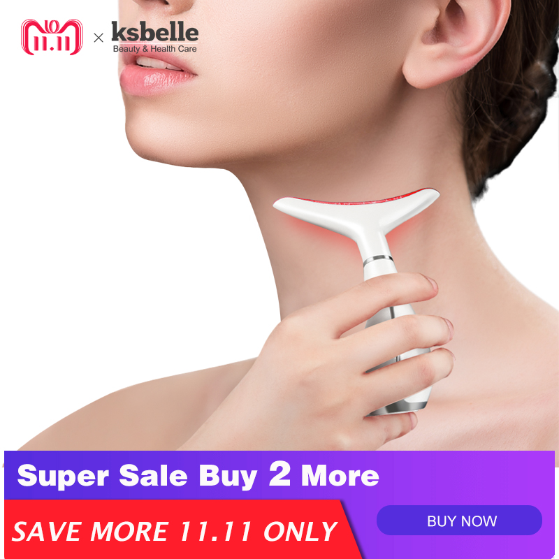 3-in-1 NECK REJUVENATION Neck Wrinkles Remove Double Chin Reducer Vibrating Neck Massager Chin exerciser Neck beauty devices neck