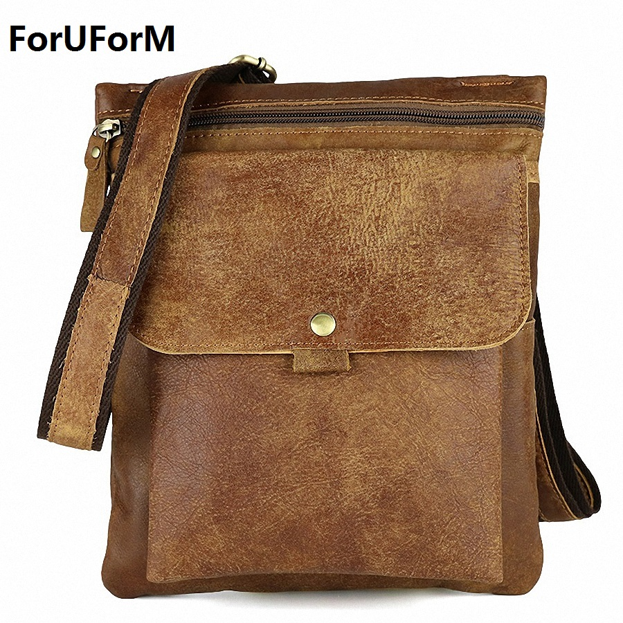 купить Genuine Leather Men Bag Fashion messenger bags shoulder Business Men's Briefcase Casual crossbody Handbags man waist Bag LI-1423 недорого