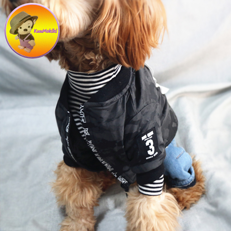 New Arrivals Autumn Winter French Bulldog Jeans Vest Vests For Pet PU Jacket Dog Clothes Puppy Coat Dogs Apparel Pug Clothing
