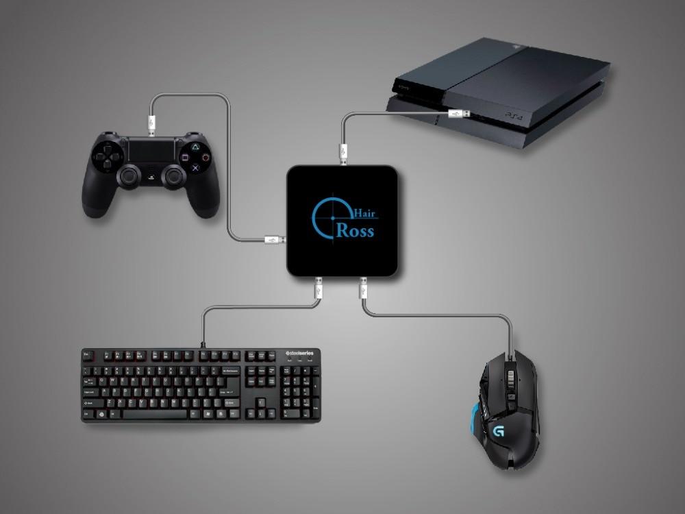 Adaptateur de convertisseur de souris et clavier CrossHair pour PS4/PS3/XBOXONE/XBOX 360/Switch