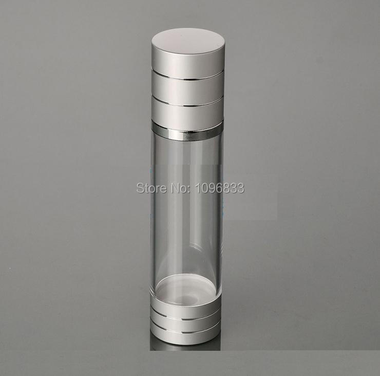 100ML Silver Color Airless Pump Bottle, Cosmetic Airless Bottle, Essence Serum Packaging Bottle, Vacuum Lotion Bottle. 18pcs/Lot benton fermentation essence 100ml wrinkle improvement korea cosmetic