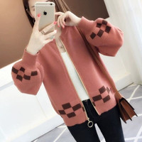 2018 Spring New Small Sweater Women's Cardigan Short Coat Autumn Loose Thick Sweater Outside Multicolor