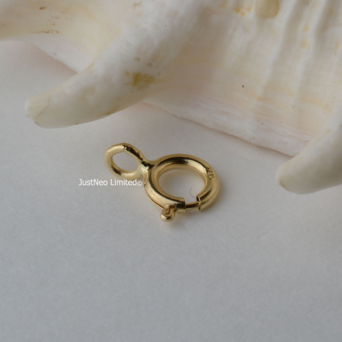 14K Or Jaune Homard Fermoirs avec Jump Ring Lobster Claw Collier Fermoir