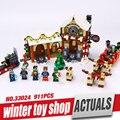 Nueva Lele 33024 Choza Creativa Serie de La Navidad de Invierno Tienda de Juguetes Conjunto de Bloques de Construcción Ladrillos de Juguetes Educativos 10245