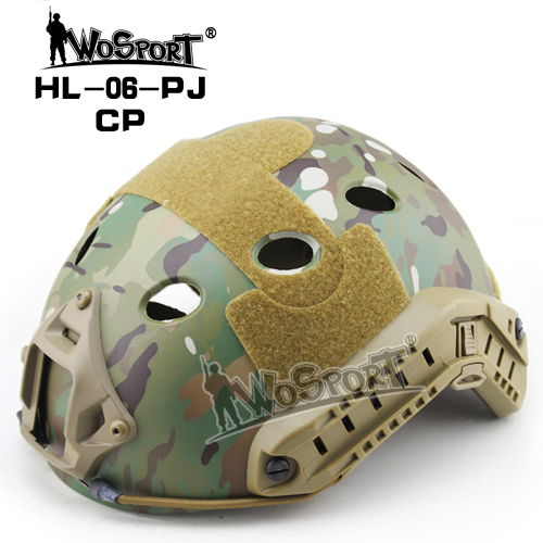 WOSPORT Tactical FAST Helmet PJ TYPE for  Military Adjustable CS Dial Pararescue Jump Protective Ops-Core Helmet vilead 16 colors jb mh standard fast helmet ops core airsoft tactical helmet for outdoor war game activities non porous