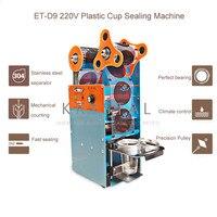 220V 수동 거품 차 컵 실러 컵 직경 90mm & 95mm 씰링 기계 우유 차  아이스크림 커피 계산 기능 ET-D9