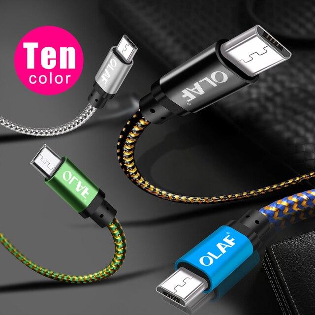 OLAF Micro USB kabel 1m 2m 3m szybkie ładowanie USB kabel danych dla Samsung S6 S7 Xiaomi 4X LG Tablet Android telefon komórkowy USB ładowanie