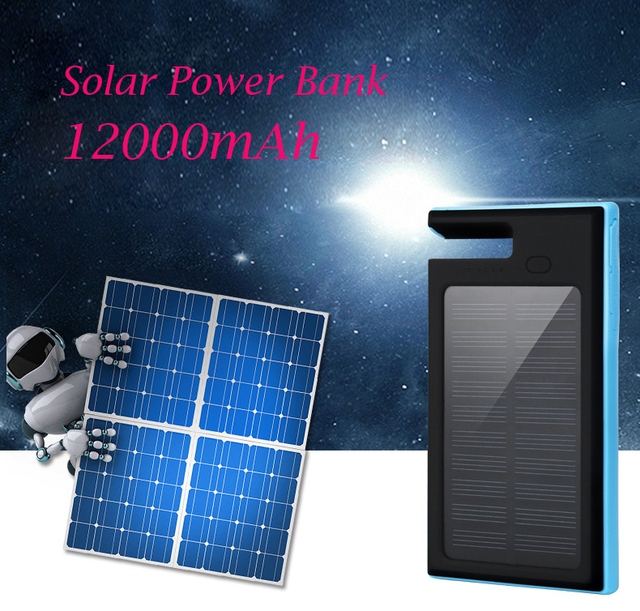 High recommend 12000mAh Solar Power Bank with kickstand function External solar charger powerbank for mobile phone for outdoors