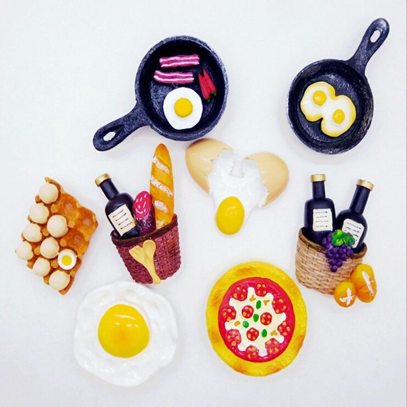 1 Pc 3d Magnetische Magneet Hamburger Japanse Koelkast Magneet Souvenir Home Keuken Decoratieve Sticker Vroeg Leren Speelgoed