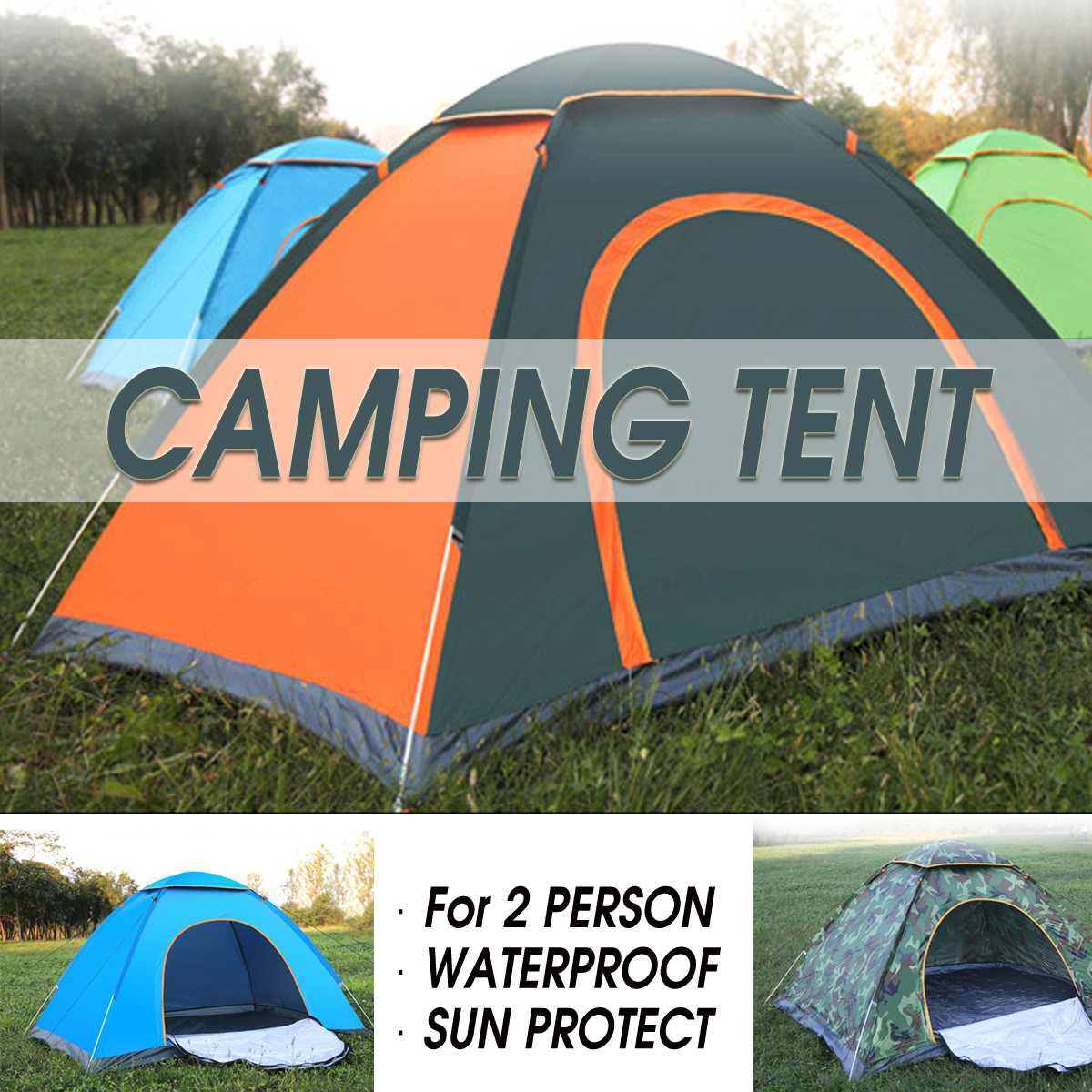 2-3 Person Waterproof Camping Tent Quick Automatic Open Outdoor Portable Shelter Hiking Fishing Travel Anti UV Sun2-3 Person Waterproof Camping Tent Quick Automatic Open Outdoor Portable Shelter Hiking Fishing Travel Anti UV Sun