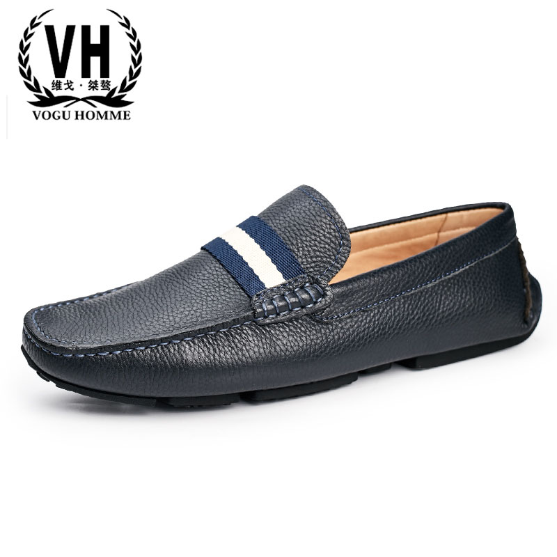 spring and autumn summer 2018 new soft bottom leather British men casual shoes Doug mne s
