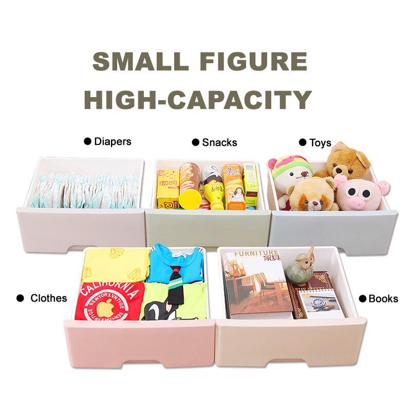 Cinq couches boîte tiroir en plastique multi couche tiroir type collection armoire bébé placard jouet vêtements tri boîte tiroirs de rangement - 3