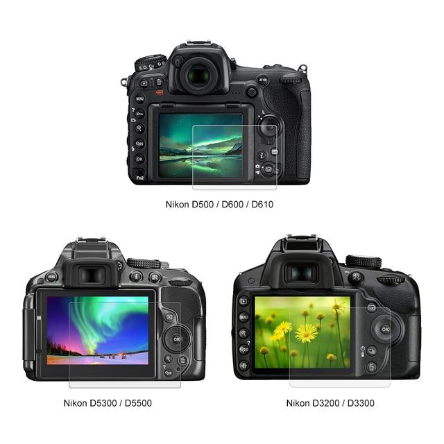 Temperado Vidro Óptico LCD HD Ultra-fino 9 H Película de Proteção Protetor de Tela Da Câmera Para Nikon D5300 D5500 D7100 d7200 D750 D3200