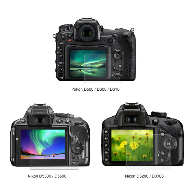 Tempered Optical Glass HD LCD Ultra-thin 9H Camera Screen Protector Protection Film For Nikon D5300 D5500 D7100 D7200 D750 D3200